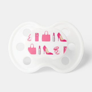 Girly things design pacifiers