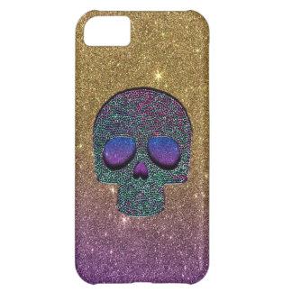Girly Trendy Faux Glitter Skull iPhone 5C Case