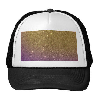 Girly Trendy Faux Gradient Glitter Cap