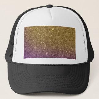 Girly Trendy Faux Gradient Glitter Trucker Hat