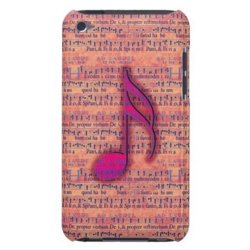 Girly Trendy Musical Note on Sheet Music iPod Touch Cover