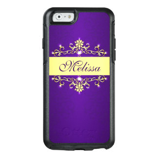 Girly Trendy Purple Gold OtterBox iPhone 6/6s Case