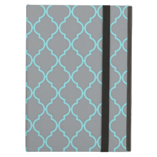 Girly Turquoise and Gray Pattern Case For iPad Air