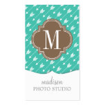 Girly Turquoise & brown Tribal Arrows Custom Pack Of Standard Business Cards