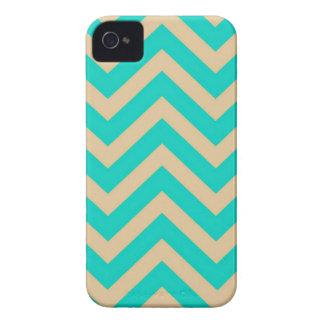 Girly Turquoise Chevron Blackberry Case