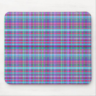 Girly Unique Flannel Plaid Design Mouse Mat