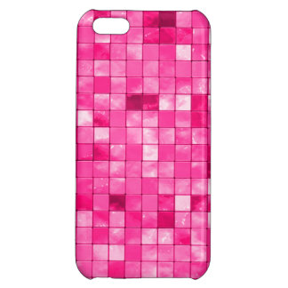 Girly Variegated Fuchsia Decorative Tile Pattern iPhone 5C Cases