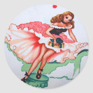 Girly Vintage Fabric Sticker