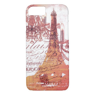girly vintage French chandelier girly eiffel tower iPhone 8/7 Case