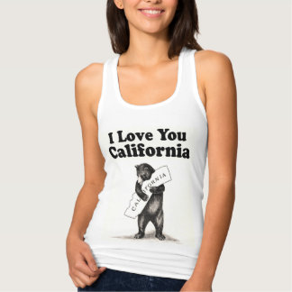 Girly Vintage I Love You California Tank Top