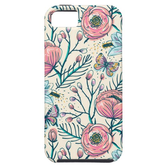 Girly Vintage Rose Garden Flower Pattern Case For