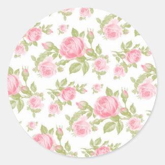Girly Vintage Roses Floral Print Sticker