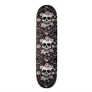 Girly Vintage Skull Custom Skate Board