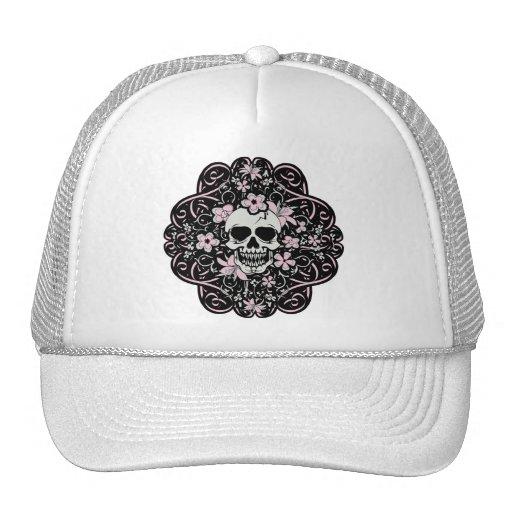 Girly Vintage Skull Trucker Hats