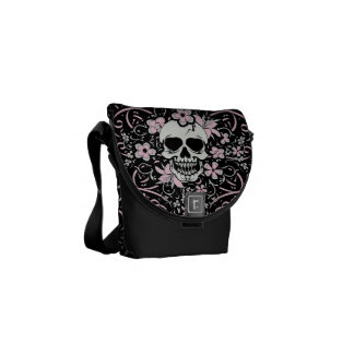 Girly Vintage Skull Messenger Bag