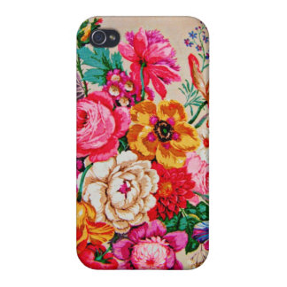 Girly Vintage Spring Flowers Case For iPhone 4