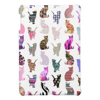 Cats pattern iPad case