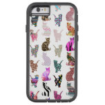 Girly Whimsical Cats aztec floral stripes pattern Tough Xtreme iPhone 6 Case