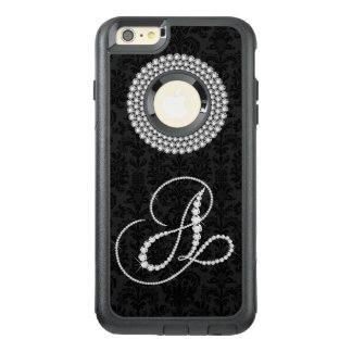 Girly White Diamonds Print Monogram Letter A OtterBox iPhone 6/6s Plus Case