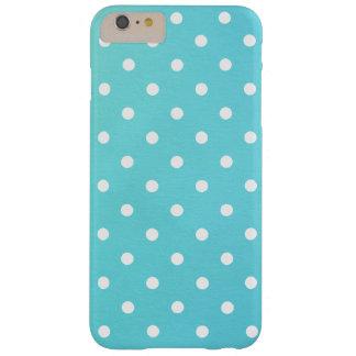 Girly White Pokadots Teal iPhone 6/6s Plus Case