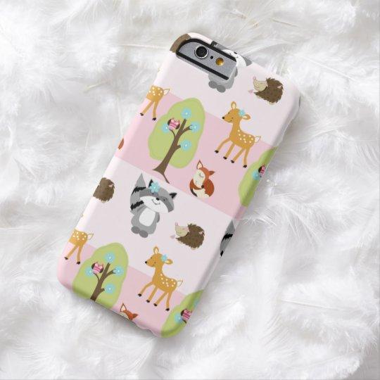 Girly Woodland Pink Nature iPhone 6 Case