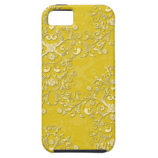 Girly Yellow Floral Damask iPhone 5 Case