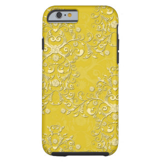Girly Yellow Floral Damask iPhone 6 case