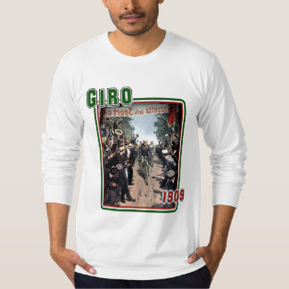 Giro 1909 T-shirt Italy flag colors fitted LS T
