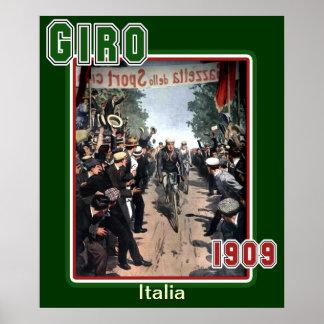 Giro 1909 Vintage Cycling Sports Fan Posters
