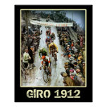 Giro 1912 Vintage Cycling Sports fans Bicycle Poster