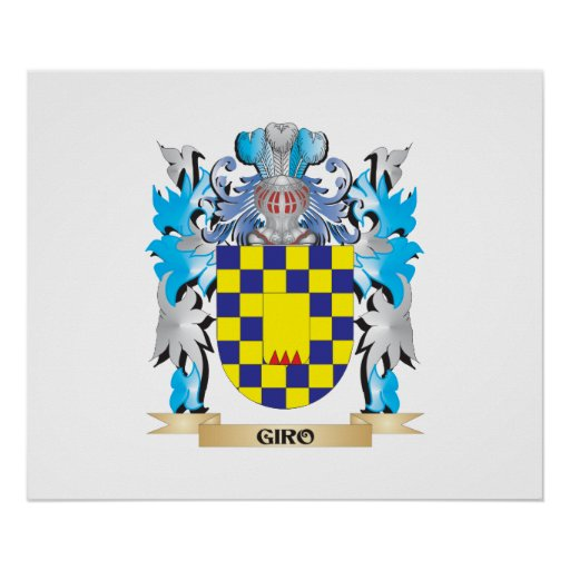 Giro Coat of Arms - Family Crest Print