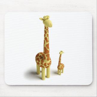 Girrafe And baby Giraffe Mouse Pad
