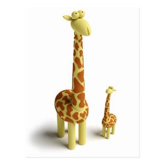 Girrafe And baby Giraffe Postcard