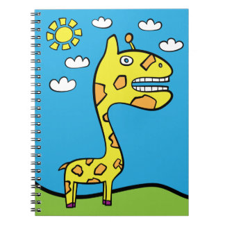 Girraffey the Giraffe 80 page Notebook