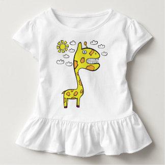 Girraffey the Giraffe - Toddler Ruffle Tee