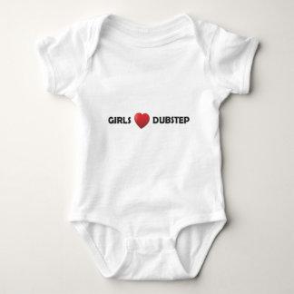 Girsl Heart Dubstep Baby Bodysuit