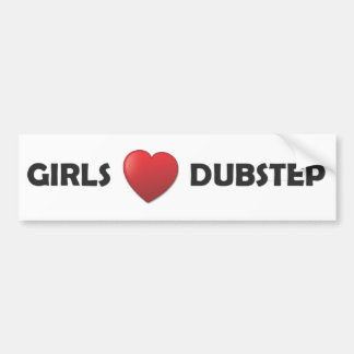 Girsl Heart Dubstep Bumper Sticker