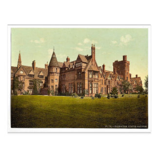 Girton College, Cambridge, England vintage Photoch Postcard