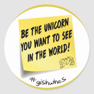 GISHWHES Be the Unicorn Post It Sticker