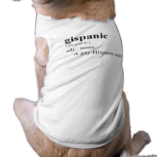 GISPANIC SLEEVELESS DOG SHIRT