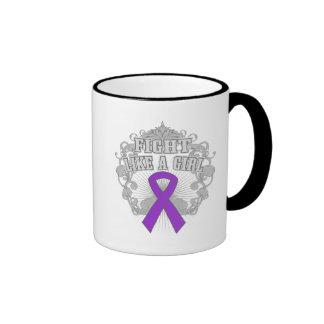 GIST Cancer Fight Like A Girl Fleurish Ringer Mug