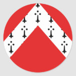 Gistel, Belgium flag Round Stickers