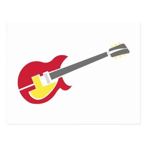 Gitarre guitar postkarten