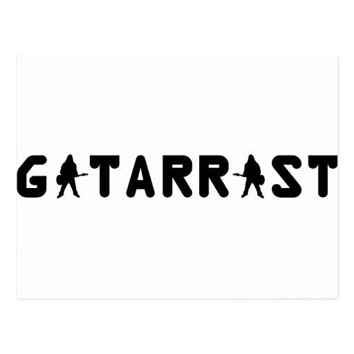 Gitarrist icon postcard