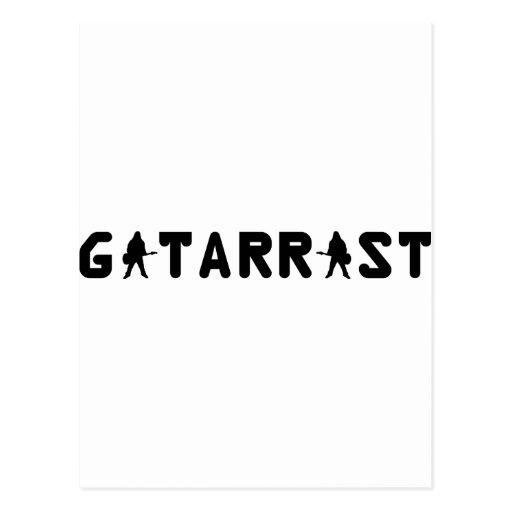 Gitarrist icon postcards
