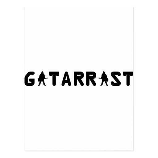 gitarrist text icon postcards