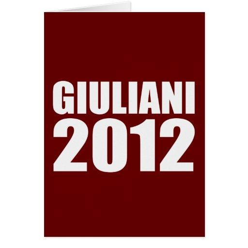 GIULIANI IN 2012 CARDS