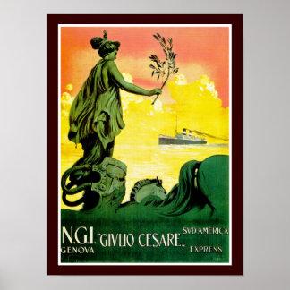 Giulio Cesare ~ Sud America Express Poster