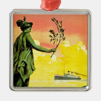Giulio Cesare ~ Sud America Express Silver-Colored Square Decoration