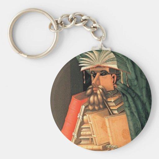 Giuseppe Arcimboldo -- the Librarian Keychain